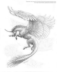Decorah by pallanoph on DeviantArt Pegasus Fantasy Myth Mythical Mystical Legend. Dark Drawings, Horse Drawings, Art Drawings Sketches, Animal Drawings, Mythical Creatures Art, Mythological Creatures, Fantasy Creatures, Fantasy Kunst, Fantasy Art