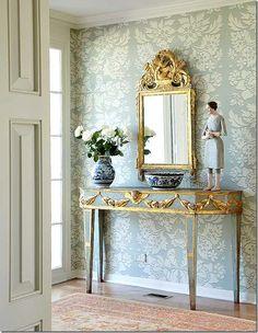 Cote De Texas   foyer of Houston Decorator Carol Glasser hm on market for 7.9