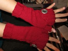 Knitted them myself! Commuter Fingerless Mitts