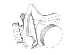 A Respirator Mask Papercraft Free Template Download - http://www.papercraftsquare.com/respirator-mask-papercraft-free-template-download.html#Mask, #RespiratorMask