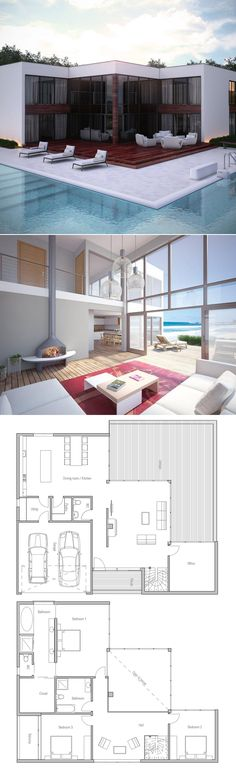 1000 ideas about modern home plans on pinterest home for Plan maison minimaliste
