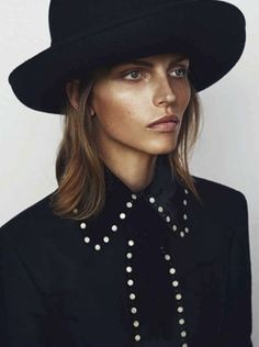 Karlina Caune shot by Blaise Reutersward for Vogue Germany September 2014 #style #fashion #hat