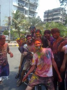 The holi festival is a yearly festival were they dress in spring colors, it is popular in Nepal and India