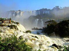 Las cataratas del Iguazú, frontera entre #Argentina y #Brasil