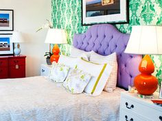Fabulous bed linens & painted furniture from Biscuit. (www.biscuit-home.com)