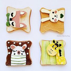 Cute toast art by (@kitchen_maotouying) | https://lomejordelaweb.es/