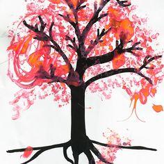 Passend zum herrlichen Frühlingswetter haben wir einen blühenden Kirschbaum gestempelt 🤗 Den Stamm und die Zweige mit einem schwarzen Marker vormalen oder die Vorlage downloaden und ausdrucken (Link in der Bio ⬆️) Einfach ein paar Wattestäbchen zusammenbinden und in Farbe tauchen - dann kann losgestempelt werden 😊  #gemeinsamgegenlangeweile #bastelnmitkindernunter3 #bastelnmitkindern #bleibcreativer #dahoambleiben #bleibdahoam #kirschblüte Marker, Link, Instagram, Flowering Cherry Tree, Art For Kids, Branches, Diving, Couple, Templates