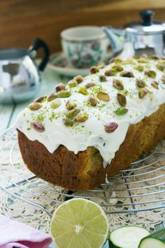 This pistachio, lime & zucchini loaf might sound strange, but these flavors are a match made in heaven!