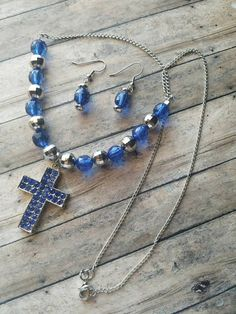 RECEIVE A FREE GIFT WITH ANY PURCHASE TIL 12/4/16!  https://www.etsy.com/listing/478117010/blue-cross-necklace-set-something-blue