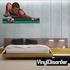 Billiard Wall Decal - Vinyl Sticker - Car Sticker - Die Cut Sticker - CDSCOLOR051