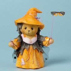 Cherished Teddies Collection Bear Witch Mask Figurine