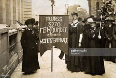 Women suffragists from Dundee, Scotland, demonstrate in London, circa This photograph was taken by Christina Broom, aka Mrs Albert Broom. Flapper Style, Flapper Fashion, Women Suffragette, Dundee City, Suffrage Movement, Online Scrapbook, Scottish Women, My Heritage, Women In History