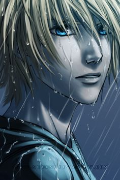 id love to learn how to draw rain like that. The shading is so thin and hard to make shine