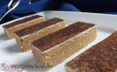 Cappuccino szelet sütés nélkül recept fotóval