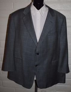 Burberry Sport Coat 54 Reg Wool Houndstooth Notched Lapel 2 Button #Burberry #TwoButton
