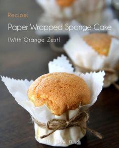 Paper Wrapped Sponge Cake {With Orange Zest} Recipe