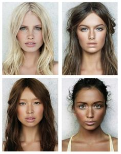 Gorgeous natural glowy makeup, take notes on highlighting and contouring ladies. (not my photo)