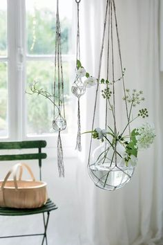 Mkono Pcs Macrame Plant Hanger Indoor Outdoor Hanging Planter Basket Cotton Rope With Beads Inch Mkono Pcs Macrame Plant Hanger Indoor Outdoor Pflanzkorb Cotton Rope With Beads Inch - Image Upload Services Window Hanging, Hanging Planters, Hanging Terrarium, Hanging Lamps, Hanging Lights, Plant Wall, Plant Decor, Bulb Vase, Decoration Plante