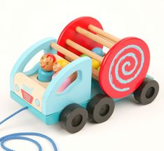 Rolling #Truck Pull Along #Wooden #Toy £14.95