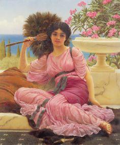Flabellifera by John William Godward, Oil on canvas