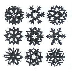 Vorlage 440 Schneekristalle