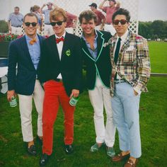 Color combo for a new client: Preppy plaid, green and bow ties! 2012 Harriman Cup.
