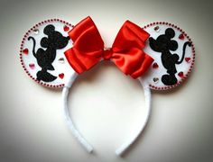 Kissing Mickey & Minnie Mouse inspired Ears by MakeMeMinnie