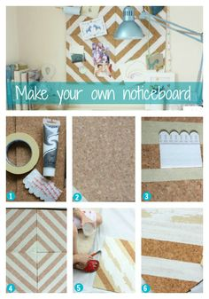 Make your own notice board - a great activity to do with the kids