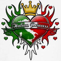 Italian Princess Tribal Design