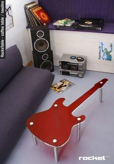 Rock Design Guitar Coffee Table