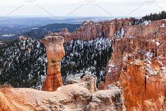 Landscape And Hoodoo Rock by PhotographerJen on @creativemarket #Mountains #BryceCanyon #Design #Background #CreativeMarket