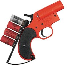 Flare gun with flares