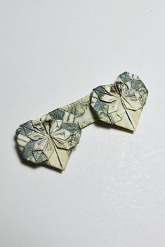 Double Heart Money Origami 1 Dollar Tutorial DIY Folded No Glue This Is