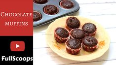 Mini Chocolate Muffins ~ Full Scoops - A food blog with easy,simple & tasty recipes! Chocolate Muffins, Mini Chocolate Chips, Food Videos, Recipe Videos, Baker And Cook, How To Make Buttermilk, Tasty, Yummy Food