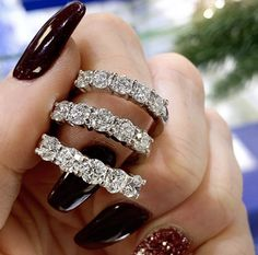 Same style but three different sizes for you to choose from! Go big and wear it solo or go smaller and stack it with others! Wedding Bands, Goals, Engagement Rings, Jewels, Stone, Big, Classic, Bracelets, How To Wear