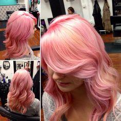 Pink! Amanda, Long Hair Styles, Pink, Beauty, Beleza, Long Hair Hairdos, Cosmetology, Pink Hair, Long Hairstyles