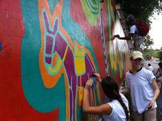 Mural Painting in El Salvador (WLC Trip)