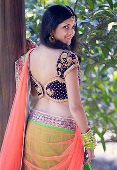 Latest blouse designs for lehanga choli/half sarees https://beautyhealthtips.in/half-saree-blouse-designs-and-patterns/