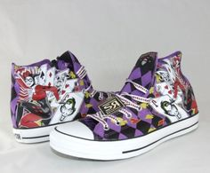 2335eb813cdc Converse HARLEY QUINN All Star Chuck Taylor DC Comics Shoes Batman Joker