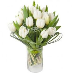White Tulips Posy, Interflora, Finnish Flower Shop, March 2016