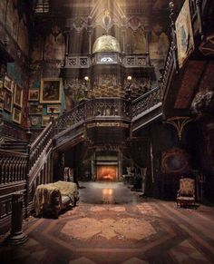 Looks like it's from the movie Crimson Peak. It may be a real place, but it definitely looks like the house in Crimson Peak Beautiful Architecture, Beautiful Buildings, Interior Architecture, Beautiful Homes, Beautiful Places, Victorian Architecture, English Architecture, Classical Architecture, Abandoned Mansions