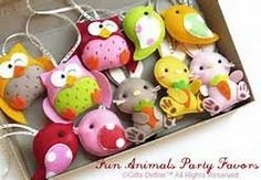 felt animals-do these in colors for Christmas tree.