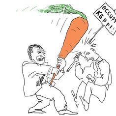 Myös porkkanalla lyödään.