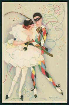 Carlo Chiostri Art Deco Postcard