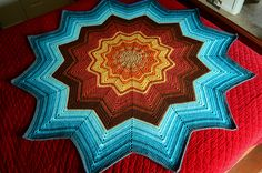 "Whoa. ""The Painted Desert"" made from free pattern"