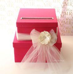 Red Wedding Card box Gift Money holder by jamiekimdesigns, $95.00