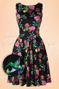 Lady V  Enchanting Floral Hommingbird Tea Dress 102 14 16880 20151009 0002W1