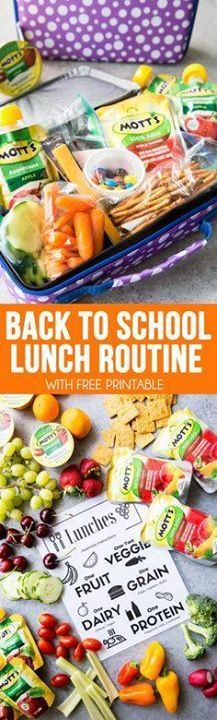 Back to School Lunch Back to School Lunch Routines an easy way...  Back to School Lunch Back to School Lunch Routines an easy way to get your kids to pack their own lunches for back to school with healthy options. Includes free printable. #ad Recipe : http://ift.tt/1hGiZgA And @ItsNutella  http://ift.tt/2v8iUYW