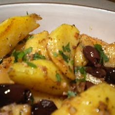 This is a great potato side that has a hint of lemon. The recipe is from my friend whose blog is Inpatskitchen.  Don't be alarmed by the baking time. It is really good served with Roast Chicken or to fancy up store bought Rotisserie Chicken.