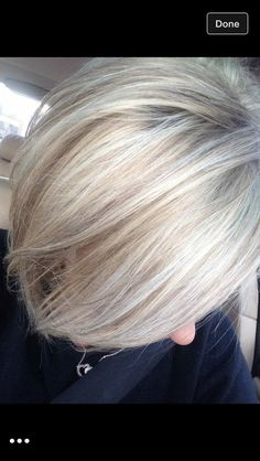 white hair with lowlights pictures – Yahoo Image Search Results - Weißes Haar Short White Hair, Silver White Hair, White Blonde Hair, Silver Blonde, Short Blonde, White Hair With Lowlights, White Hair Highlights, Grey Hair Dye, Grey Curly Hair